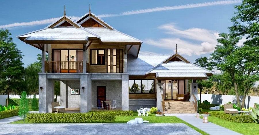 Decorate a modern Thai style house.
