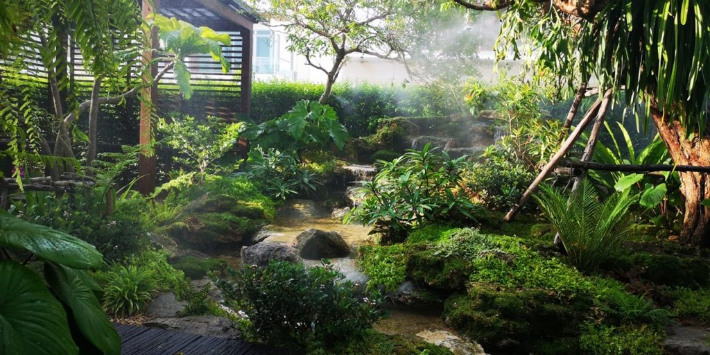 Introducing the principles of landscaping a waterfall